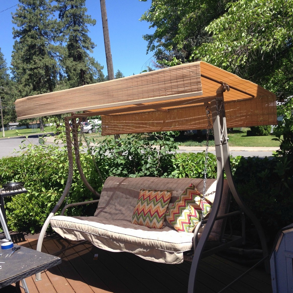 Replacing The Canopy On A Patio Swing (View 30 of 30)