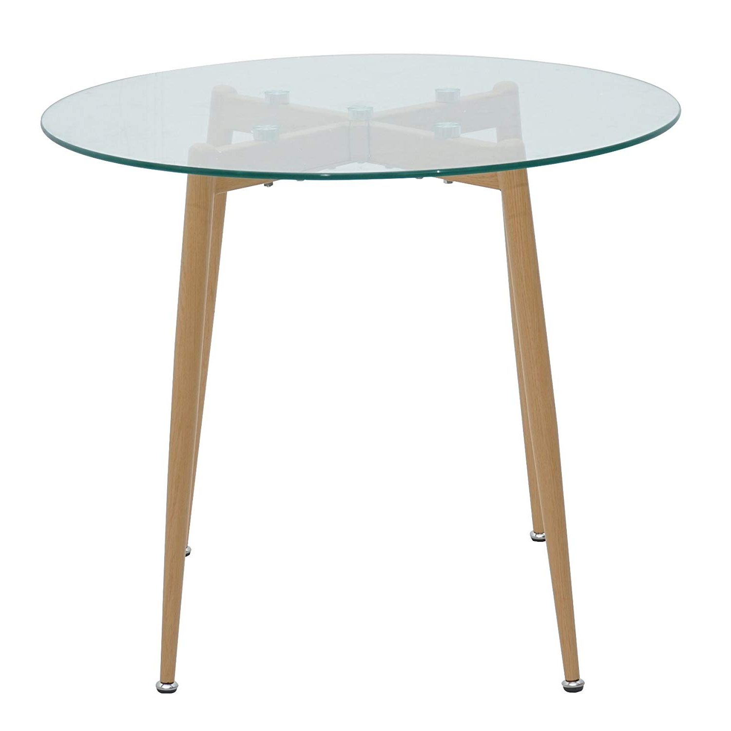 Retro Round Glasstop Dining Tables With Latest Green Spirit 90 X 75 Cm Wood Dining Table Glass Top Round (View 6 of 30)