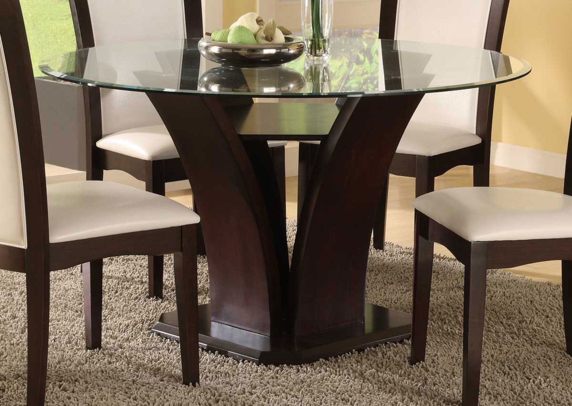 Retro Round Glasstop Dining Tables With Latest Inspiring Round Glass Dining Table For Cozy (View 4 of 30)
