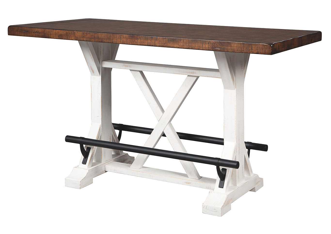Roberts Furniture & Mattress Valebeck White/brown Counter Table For Best And Newest Small Dining Tables With Rustic Pine Ash Brown Finish (View 28 of 30)