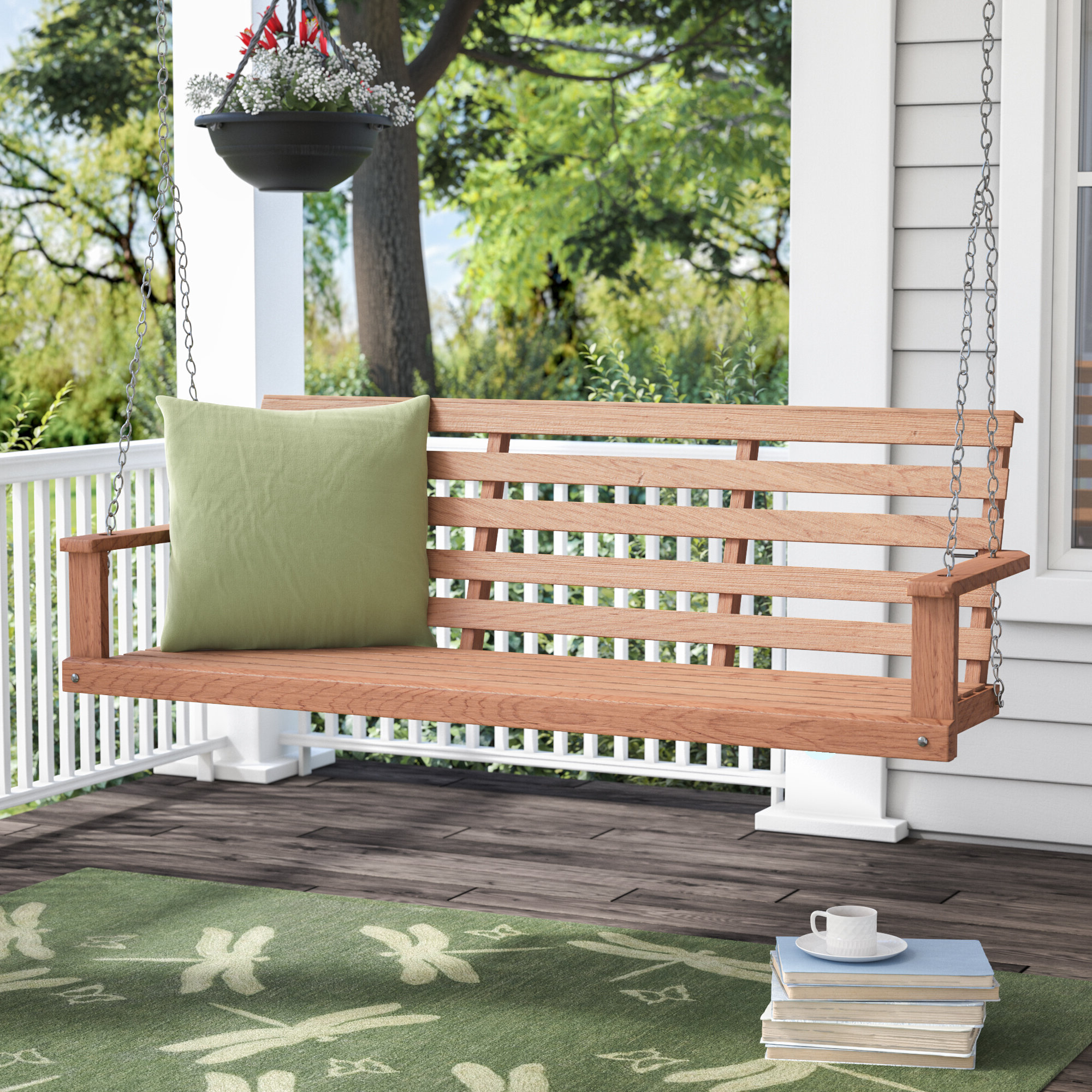 Rosean Porch Swing Throughout Fashionable Porch Swings (View 28 of 30)
