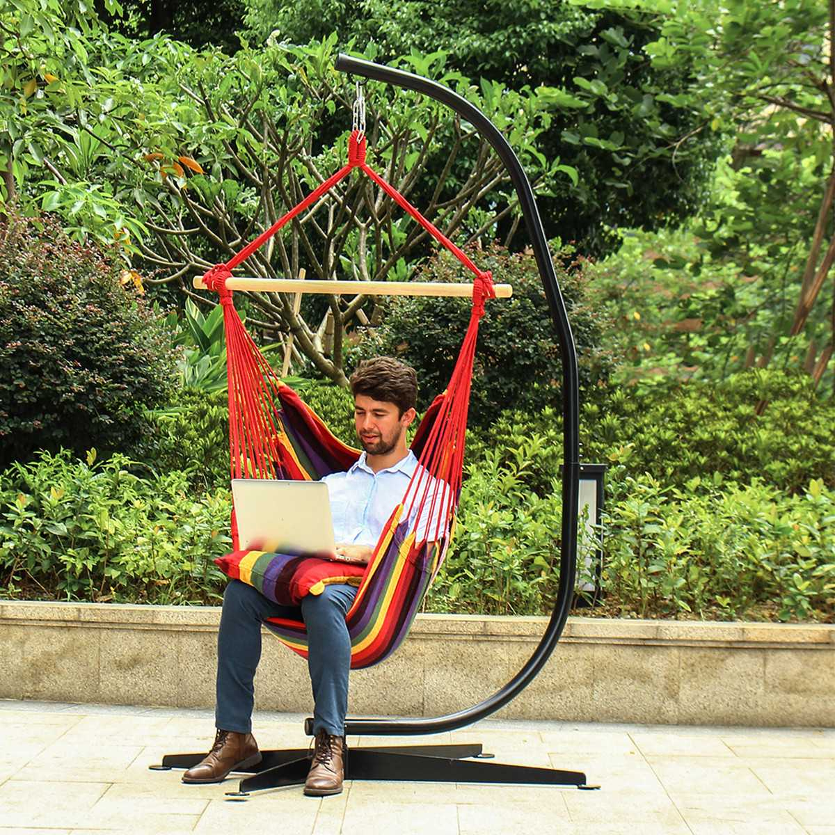 Rosean Porch Swings For Best And Newest Hot Price #f9fdd – 200kg Load C Hammock Stand Frame Solid (View 23 of 30)