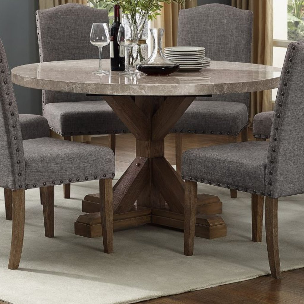 Round Dining Table Intended For Popular Atwood Transitional Square Dining Tables (View 29 of 30)
