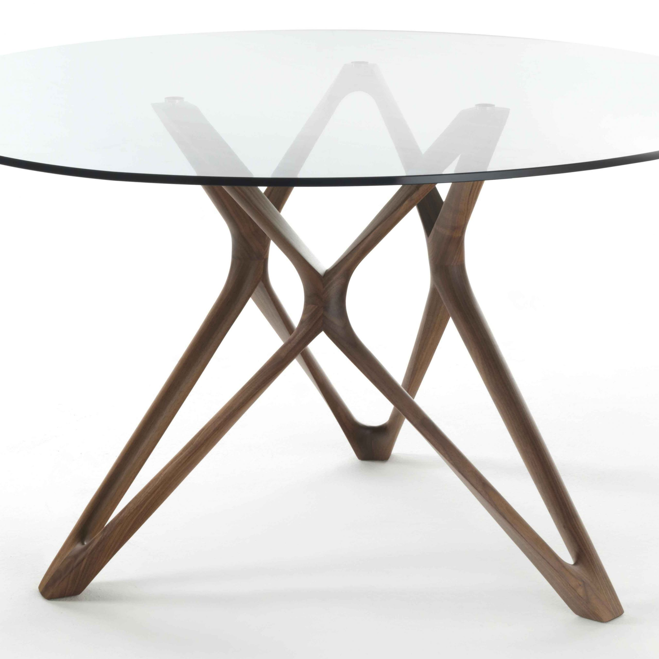Round Dining Tables With Glass Top In Popular Circe Dining Table With Glass Topporada In Dining Tables (View 22 of 30)