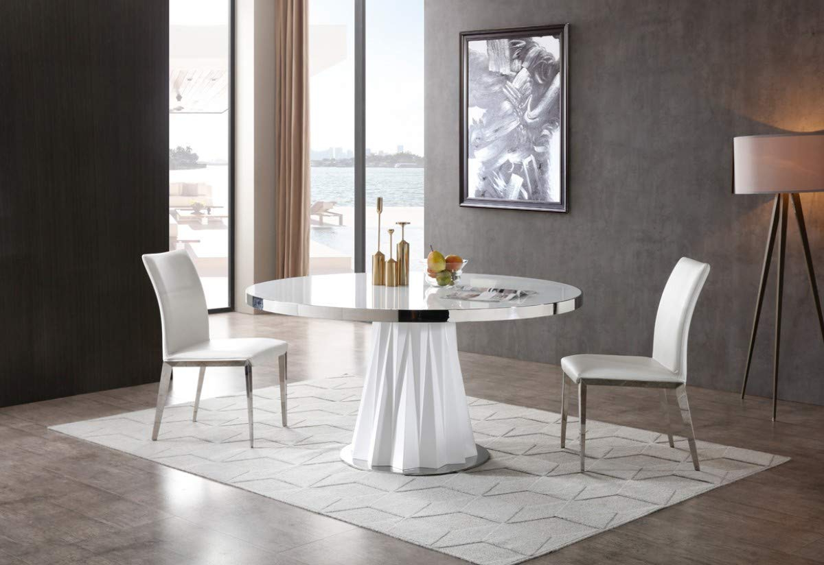 Round Dining Tables With Glass Top Pertaining To Most Popular Amazon – Limari Home Clementini Collection Modern Style (View 23 of 30)