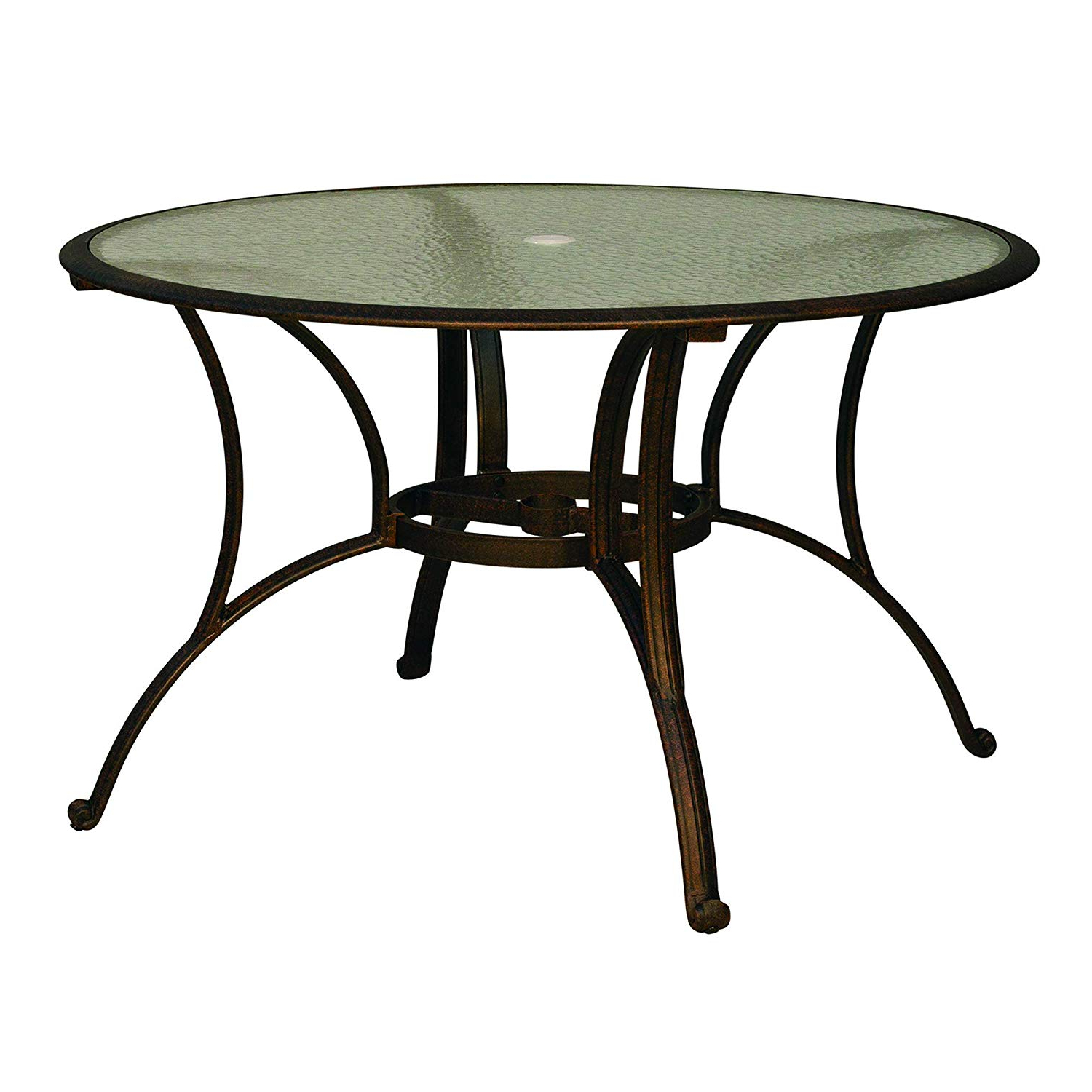 Round Dining Tables With Glass Top Regarding 2018 Amazon: Cloud Mountain Outdoor Bisrto Table Patio Table (View 20 of 30)