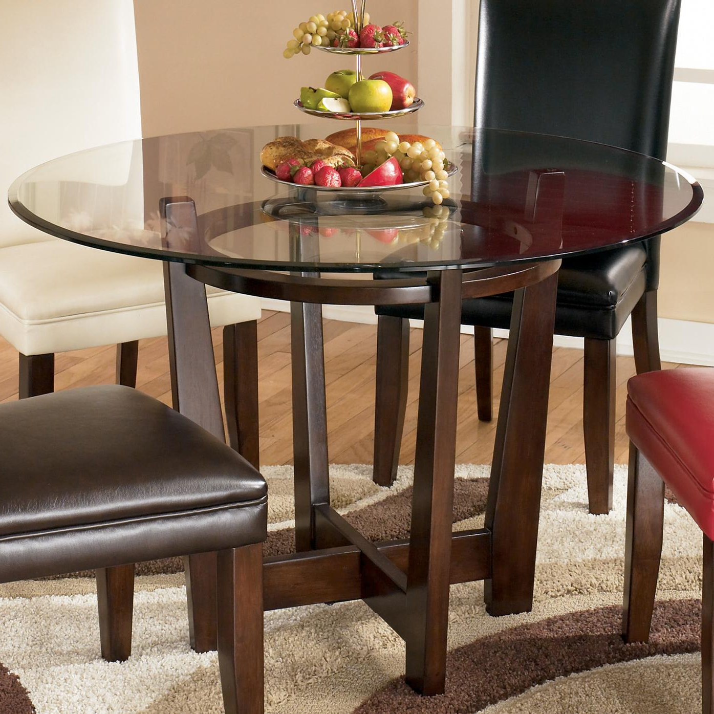 Round Dining Tables With Glass Top Throughout Recent Charrell Round Glass Top Table (View 9 of 30)