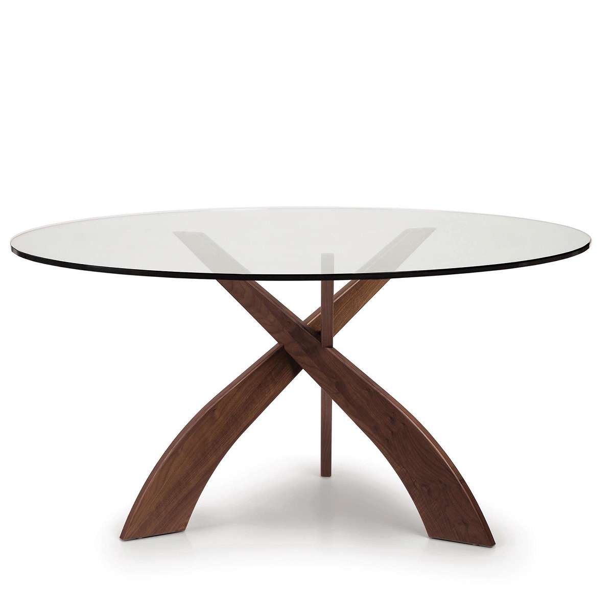 Round Dining Tables With Glass Top With Widely Used Entwine Round Glass Top Dining Table (View 21 of 30)