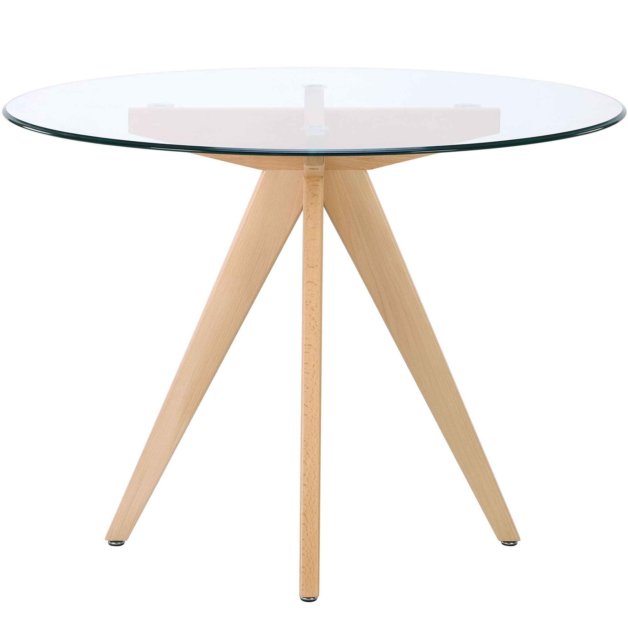 Round Glass Top Dining Tables Intended For Best And Newest 100cm Round Clear Top Dining Table (View 27 of 30)