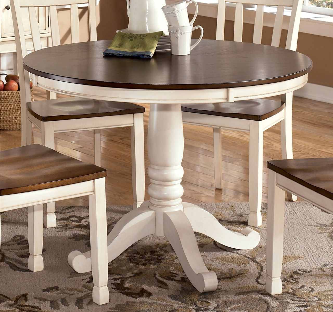 Round With Small Dining Tables With Rustic Pine Ash Brown Finish (View 30 of 30)