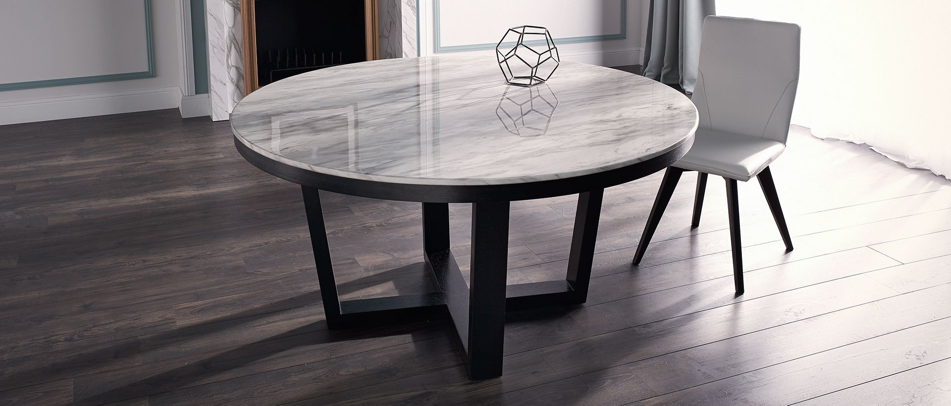 Round, Wood & Concrete Tables (View 8 of 30)
