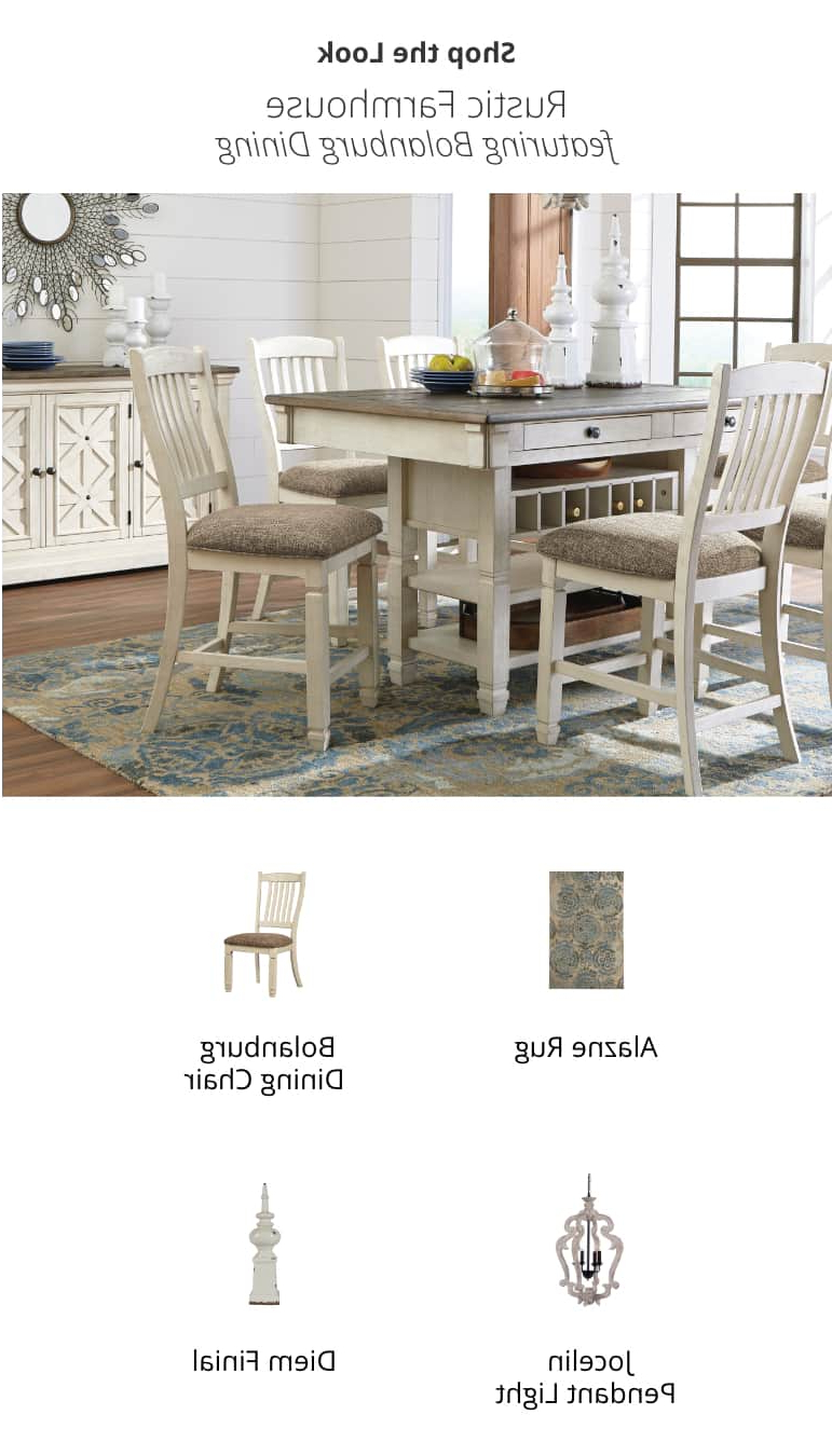 Rustic Country 8 Seating Casual Dining Tables Pertaining To Popular Kitchen & Dining Room Furniture (View 9 of 30)