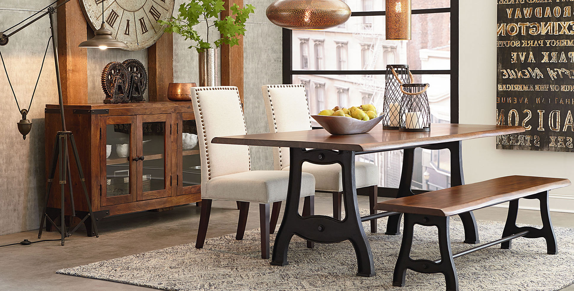 Rustic, Farmhouse, Vintage,mid Century Modern, & Industrial In 2018 Rustic Mid Century Modern 6 Seating Dining Tables In White And Natural Wood (View 20 of 30)