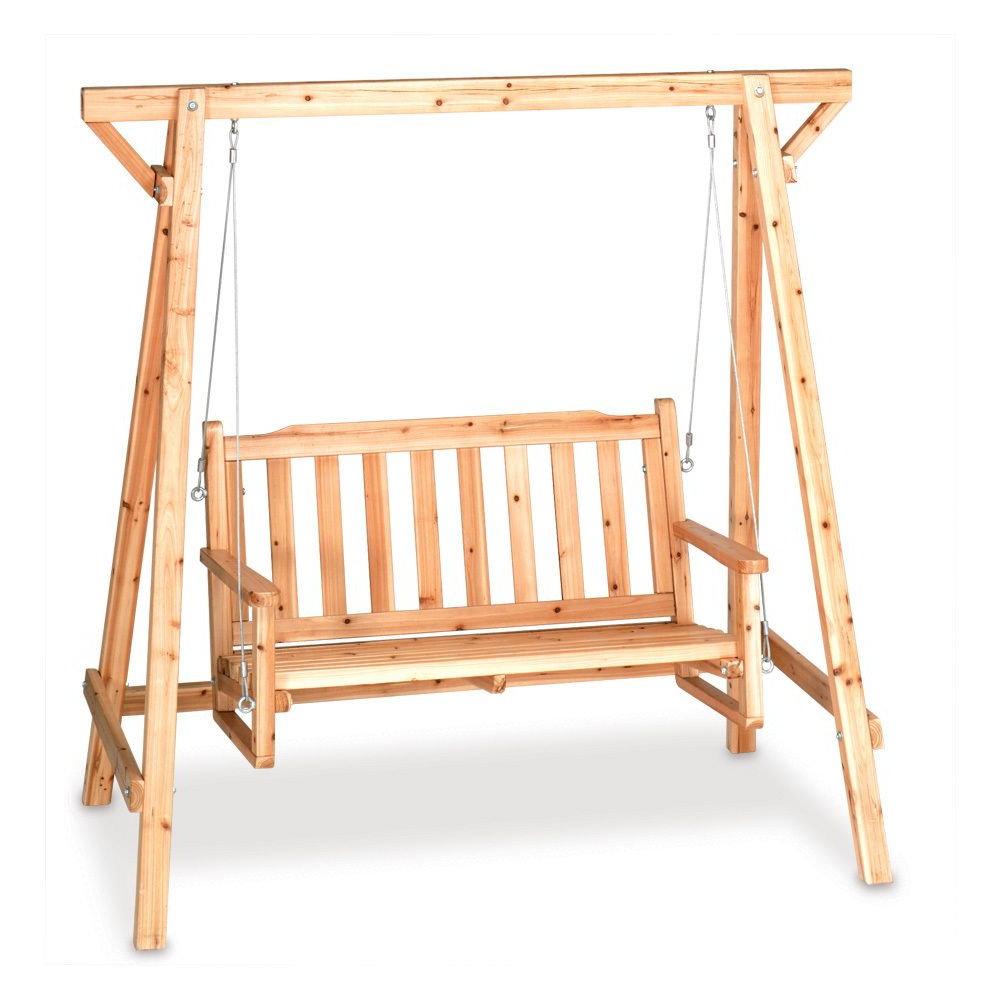 Rustic Garden Swing Is Perfect For Porch Or Patio; Comfy With Well Known Rosean Porch Swings (View 8 of 30)