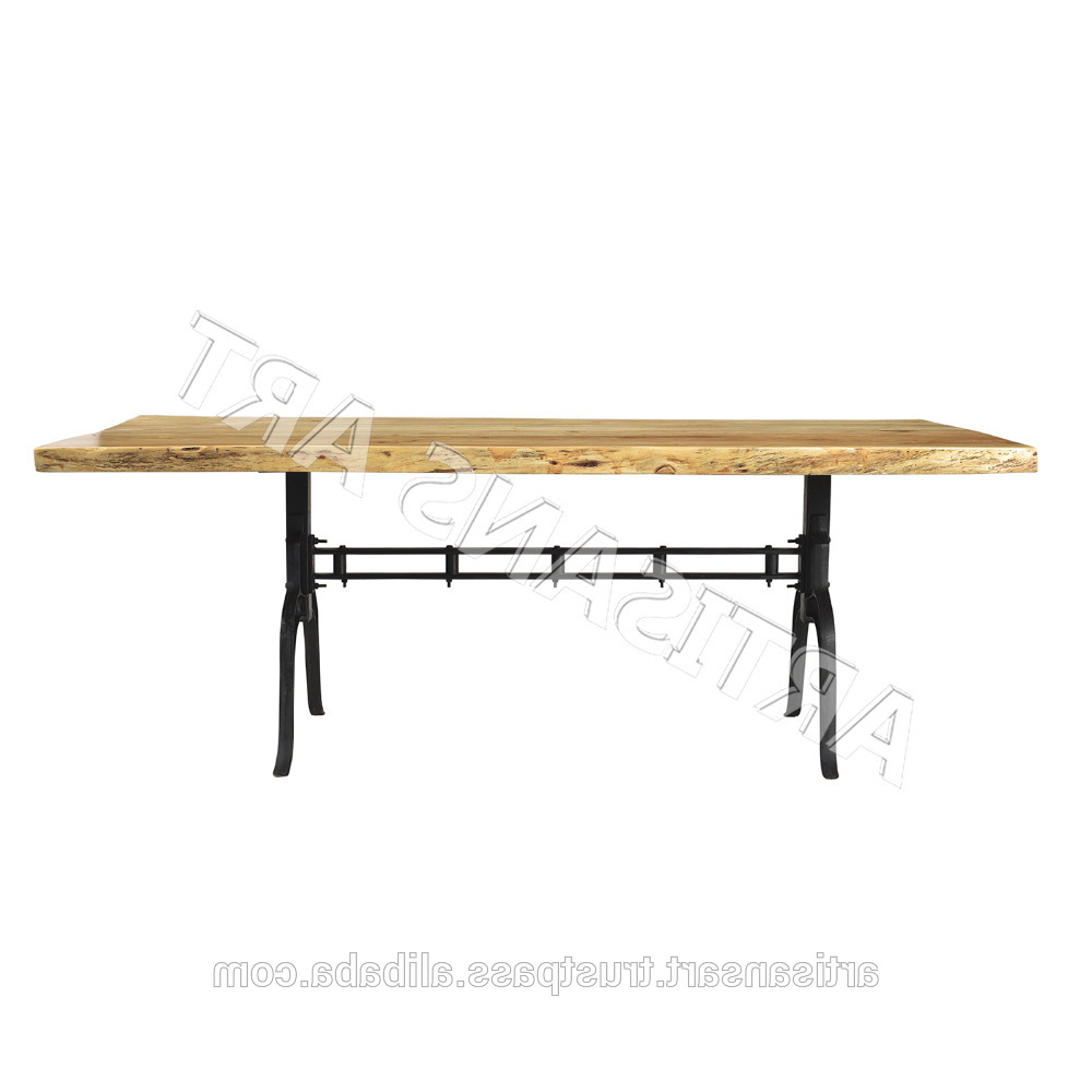 Rustic Live Edge Dining Table,live Edge Acacia Wood Slab,live Edge Furniture Manufacturer – Buy Dining Room Furniture,live Edge Slab Dining Within Current Acacia Wood Dining Tables With Sheet Metal Base (View 9 of 30)