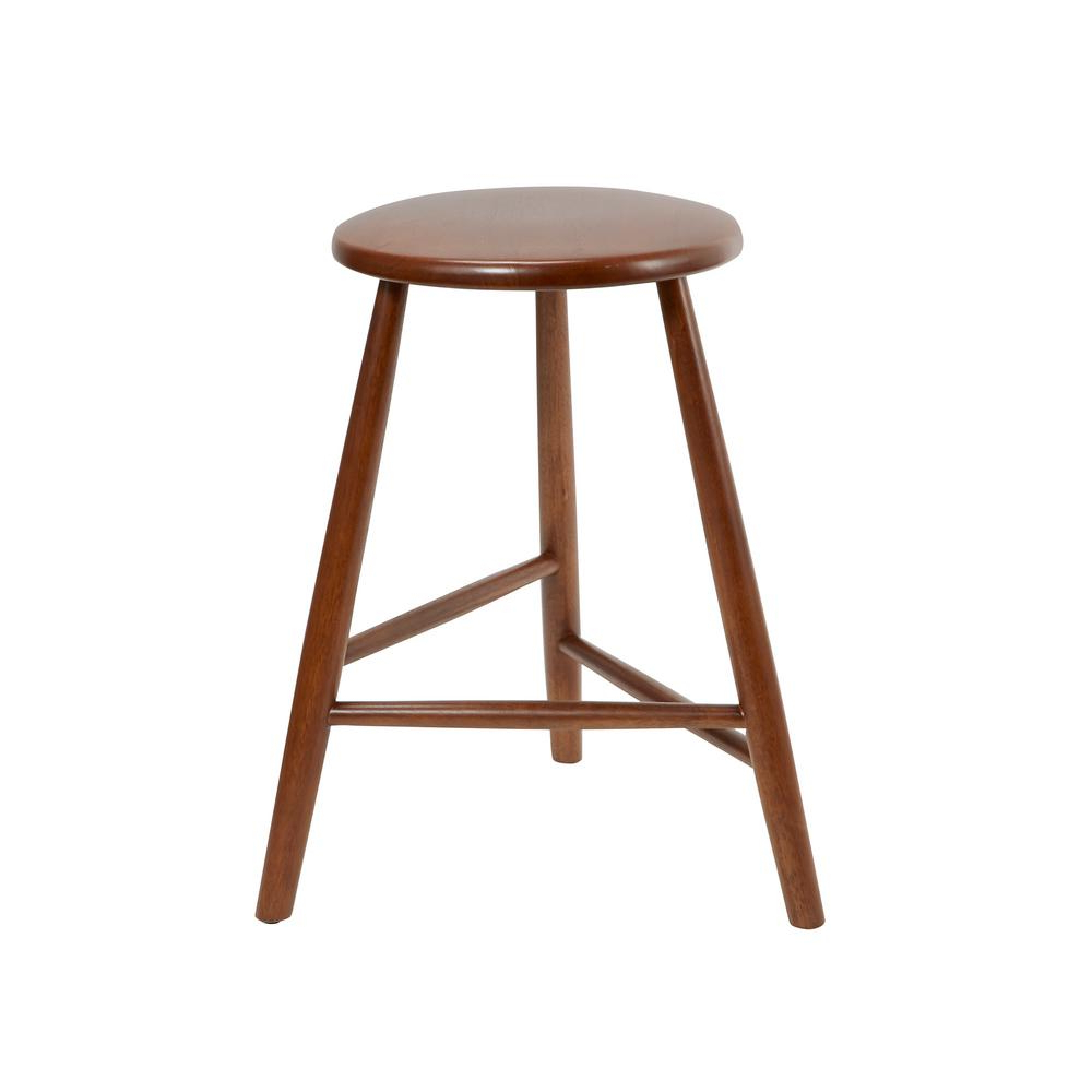 Rustic Mid Century Modern 6 Seating Dining Tables In White And Natural Wood Throughout 2018 24 In Wooden Bar Stools Comfy Norris Brown Backless Mid (View 25 of 30)