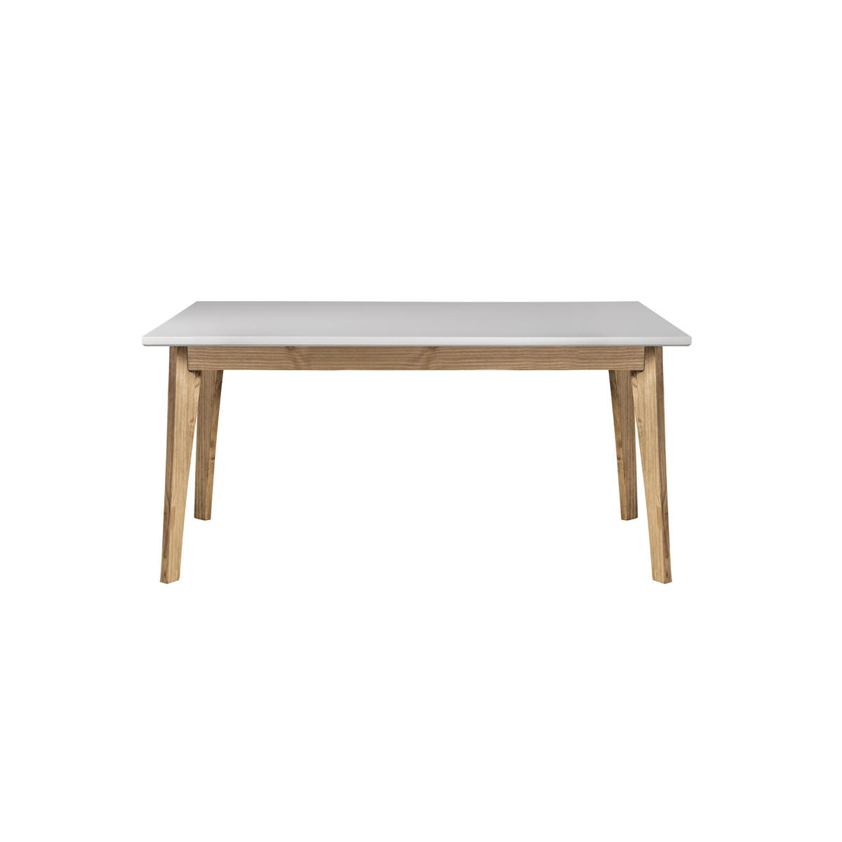 Rustic Mid Century Modern 6 Seating Dining Tables In White And Natural Wood Within Newest Rustic Mid Century Modern Jackie 6 Seating White & Natural Wood Dining  Tablemanhattan Comfort (View 26 of 30)