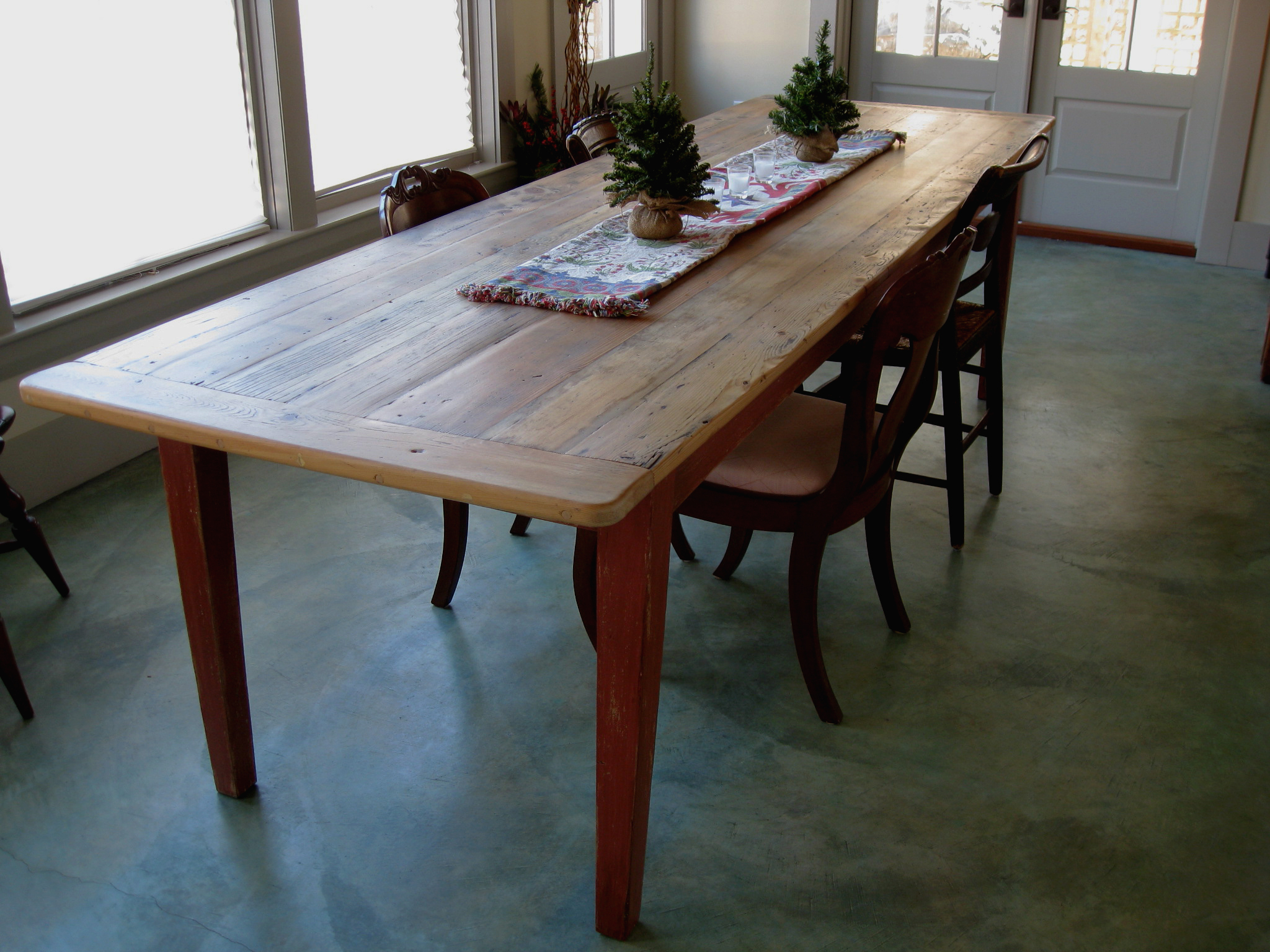 Rustic Pine Small Dining Tables Throughout Best And Newest Furniture: Awesome Long Narrow Dining Table For Interesting (View 24 of 30)