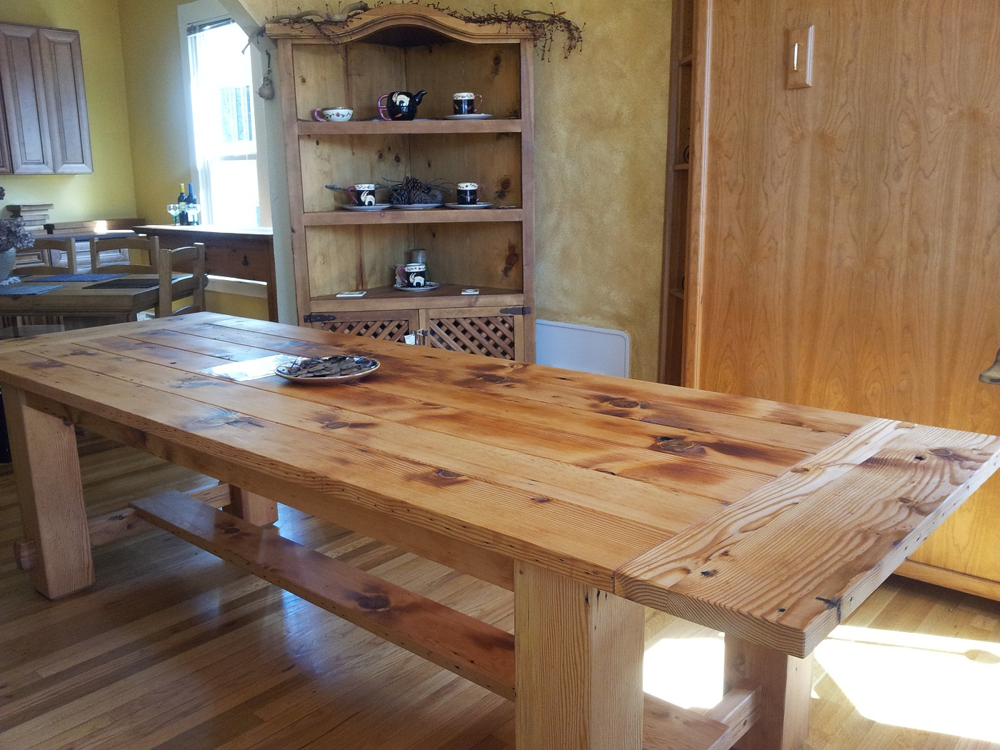 Rustic Pine Small Dining Tables Within Favorite For Everyday Unfinis Sets Spaces Table Furniture Rustic (View 17 of 30)