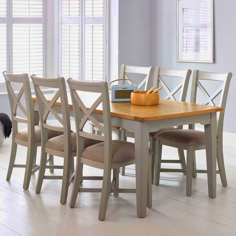 Rustic Pine Small Dining Tables Within Popular 6 8 Seater Dining Table Shabby Chic Wood Pine And Chairs Set (View 29 of 30)