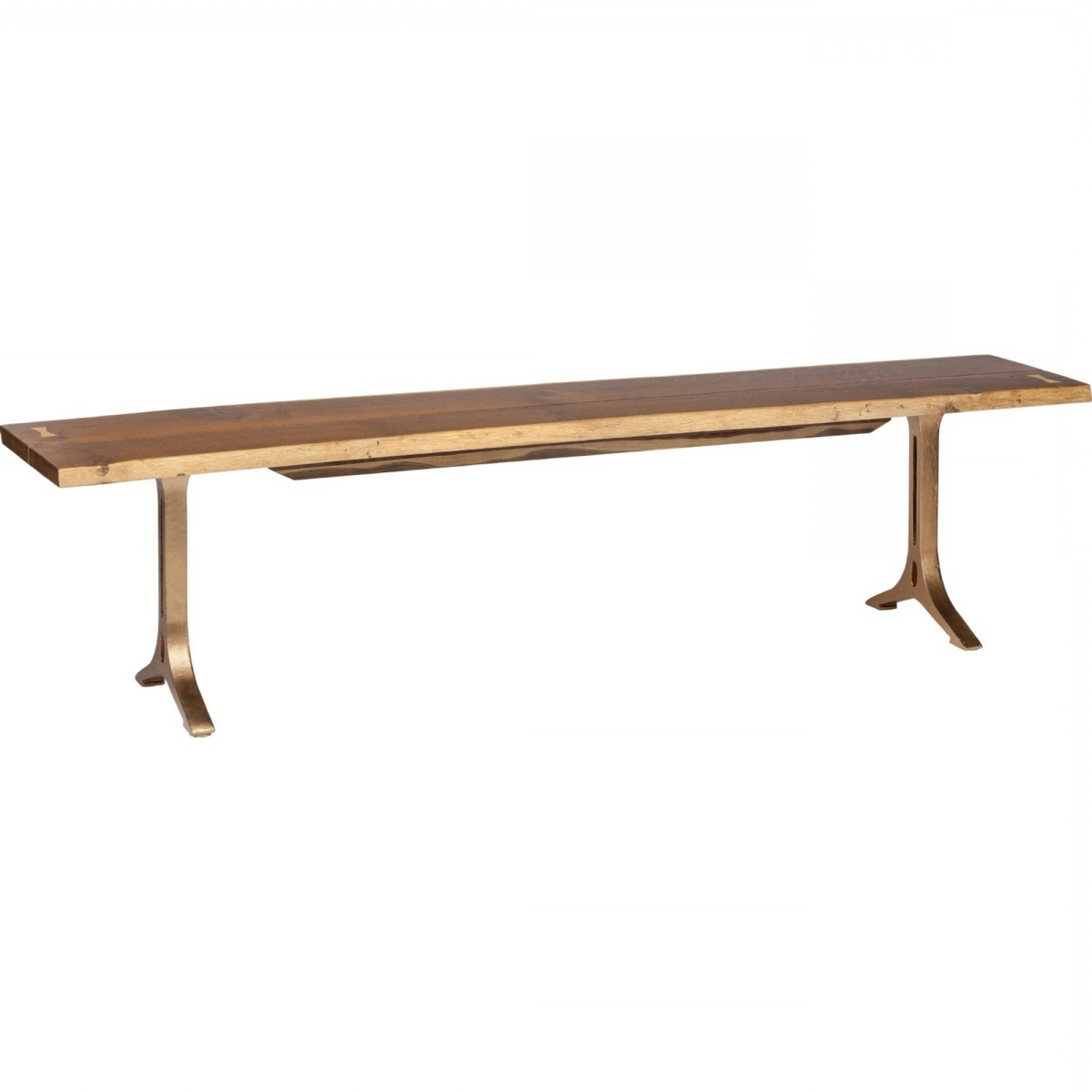 Samara Dining Bench In Smoked Oak Bronzed Gilt 71 Throughout Most Up To Date Dining Tables In Smoked/seared Oak (View 17 of 30)