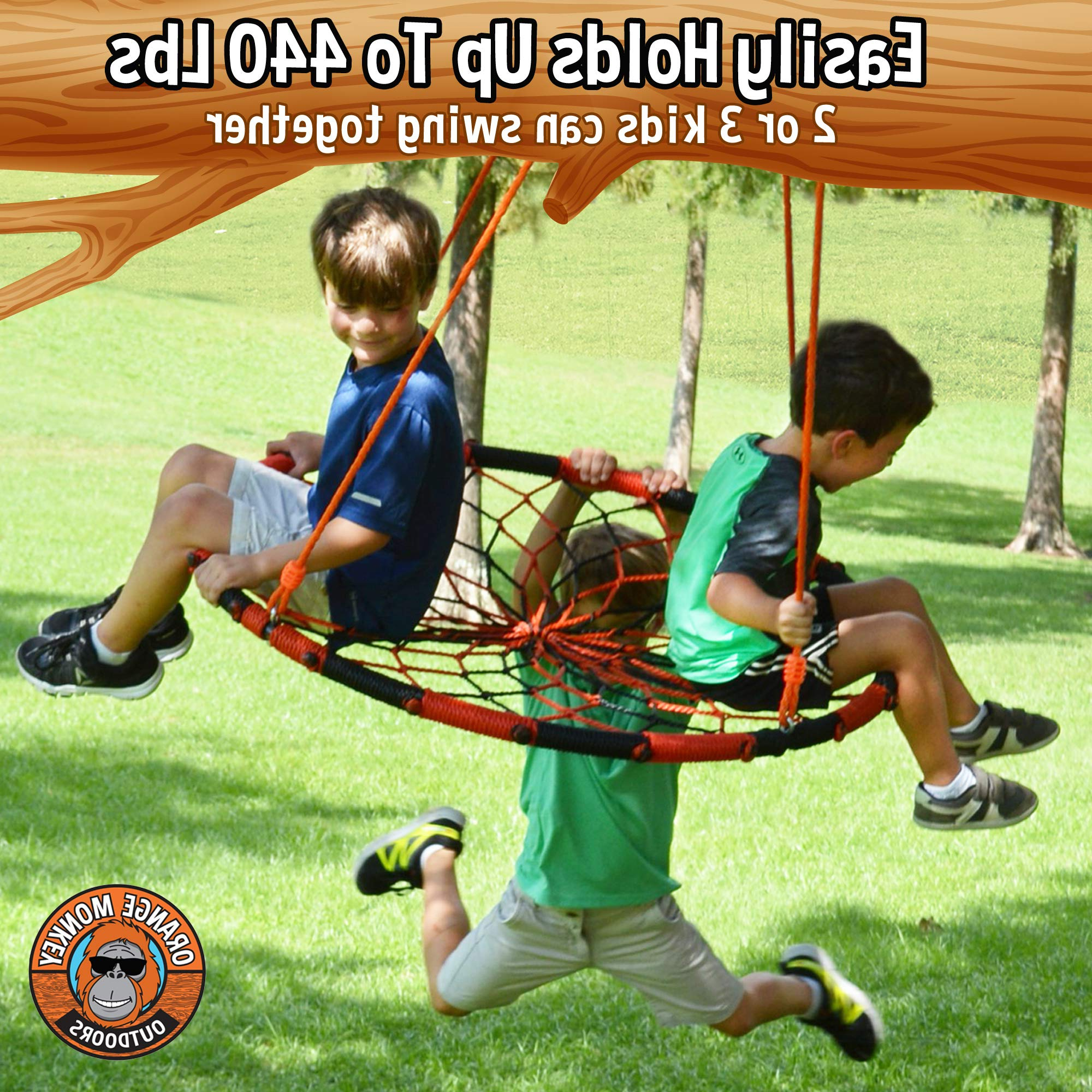 Saucer Swing For Kids Provides Throughout Nest Swings With Adjustable Ropes (View 21 of 30)
