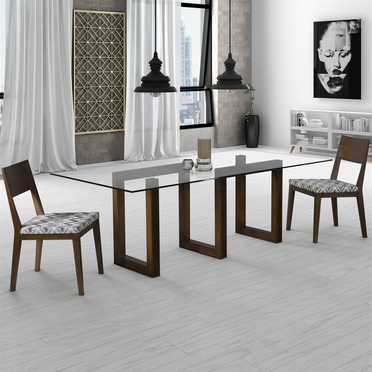 Serpent – Rectangular Glass Top Dining Table Inside Famous Rectangular Glass Top Dining Tables (View 10 of 30)