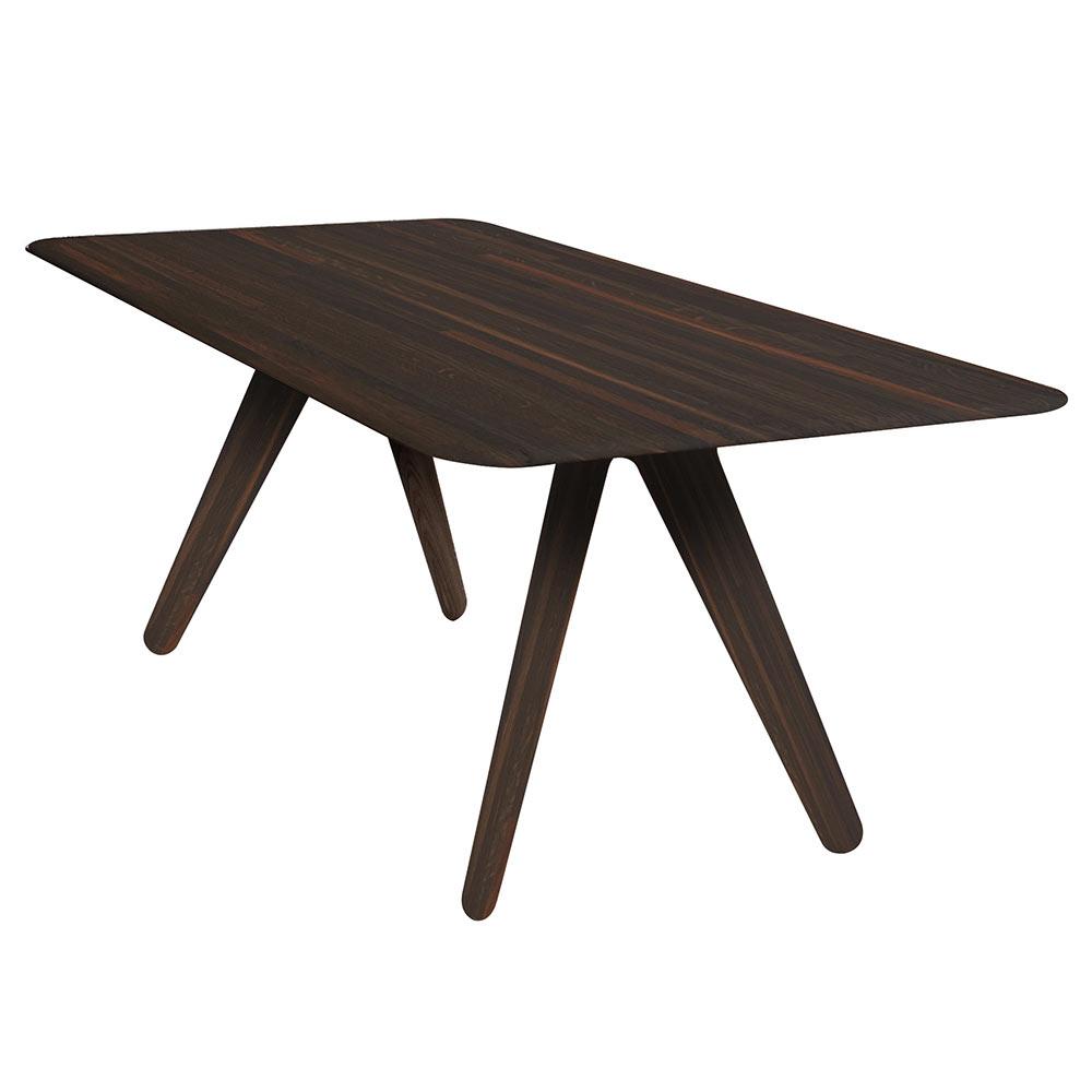 Slab Dining Table – Fumed Oak Intended For 2017 Fumed Oak Dining Tables (View 5 of 30)