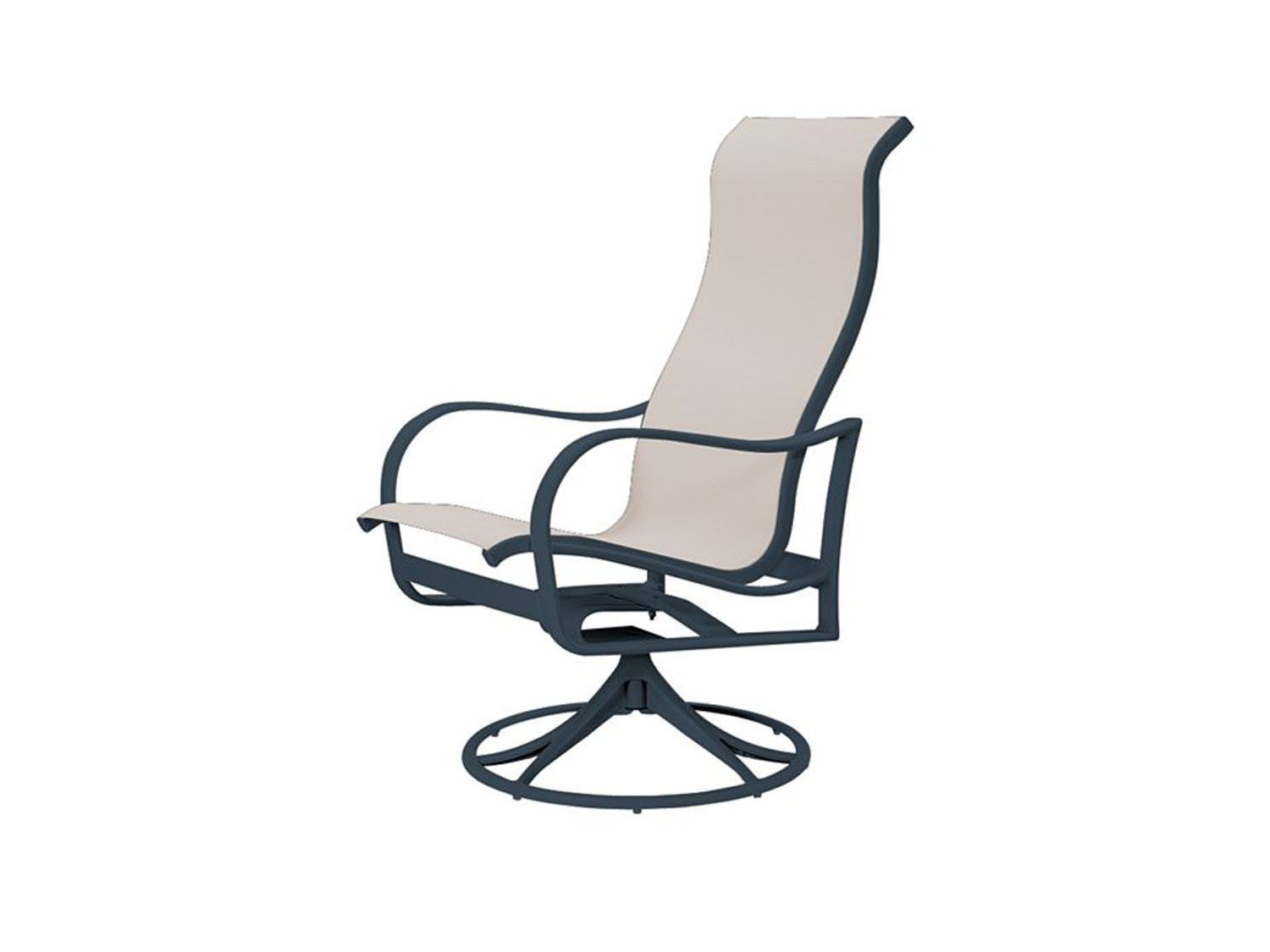 Sling High Back Swivel Chairs In Widely Used Tropitone Shoreline Sling High Back Swivel Rocker (View 24 of 30)