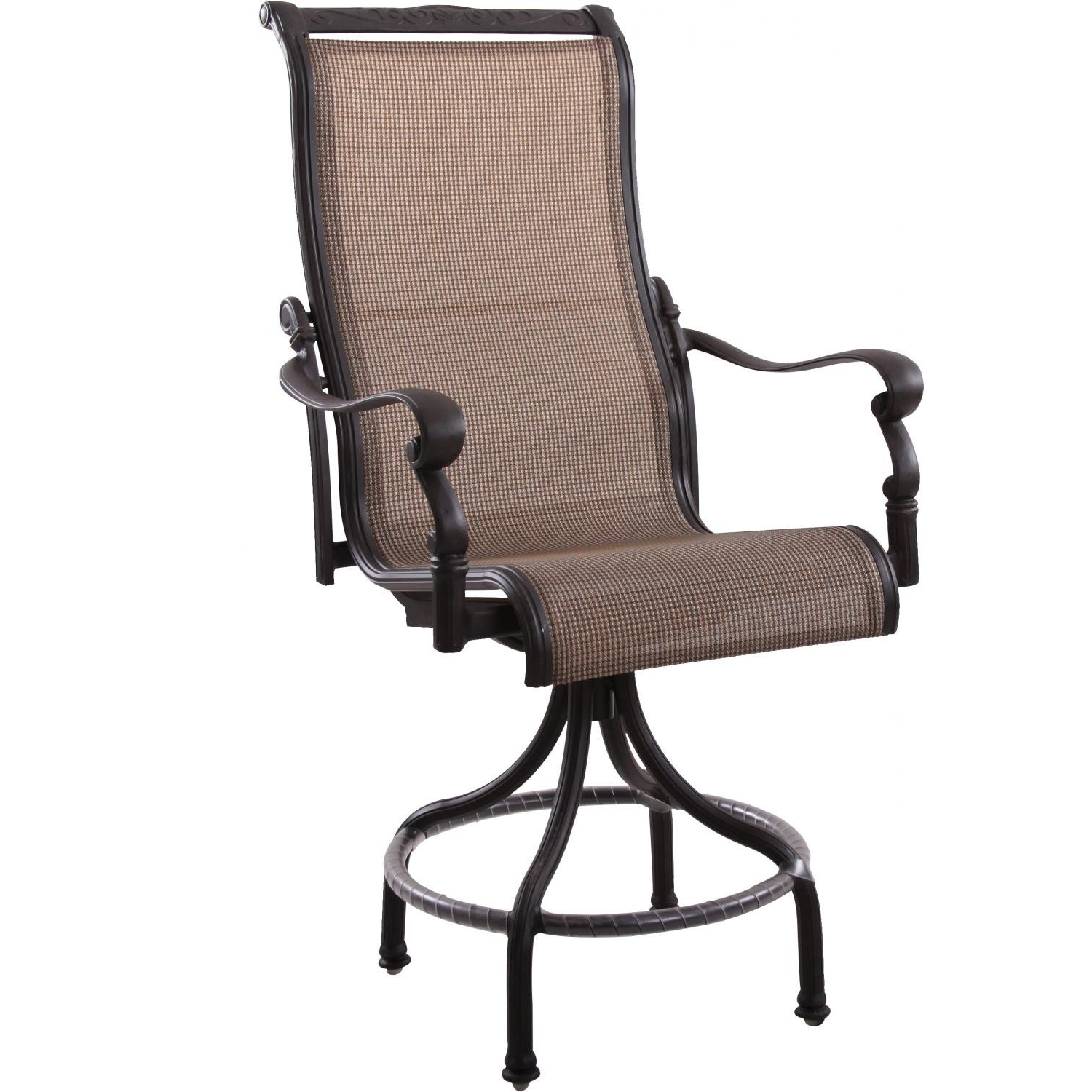 Sling High Back Swivel Chairs Regarding Most Popular Amazon : Darlee Monterey Swivel Patio Counter Stool In (View 19 of 30)