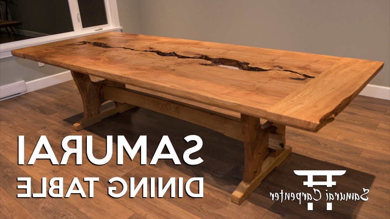 Small Dining Tables With Rustic Pine Ash Brown Finish For Widely Used Woodworking, Building A Dining Table, Start To Finish! (View 29 of 30)