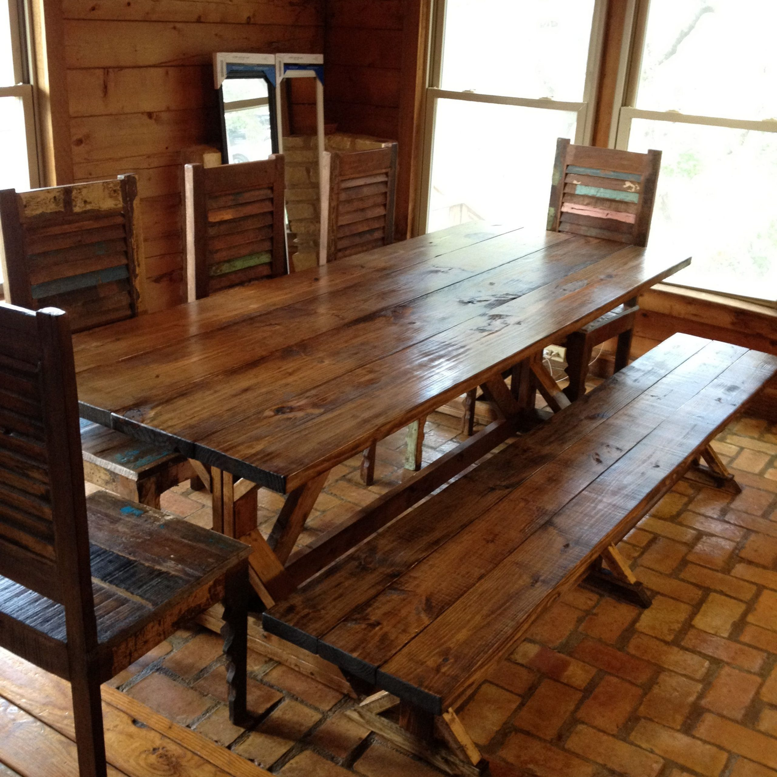 Small Rustic Look Dining Tables Pertaining To Most Current Rustic Dining Tables With Benches Rustic Dining Table Picnic (View 2 of 30)