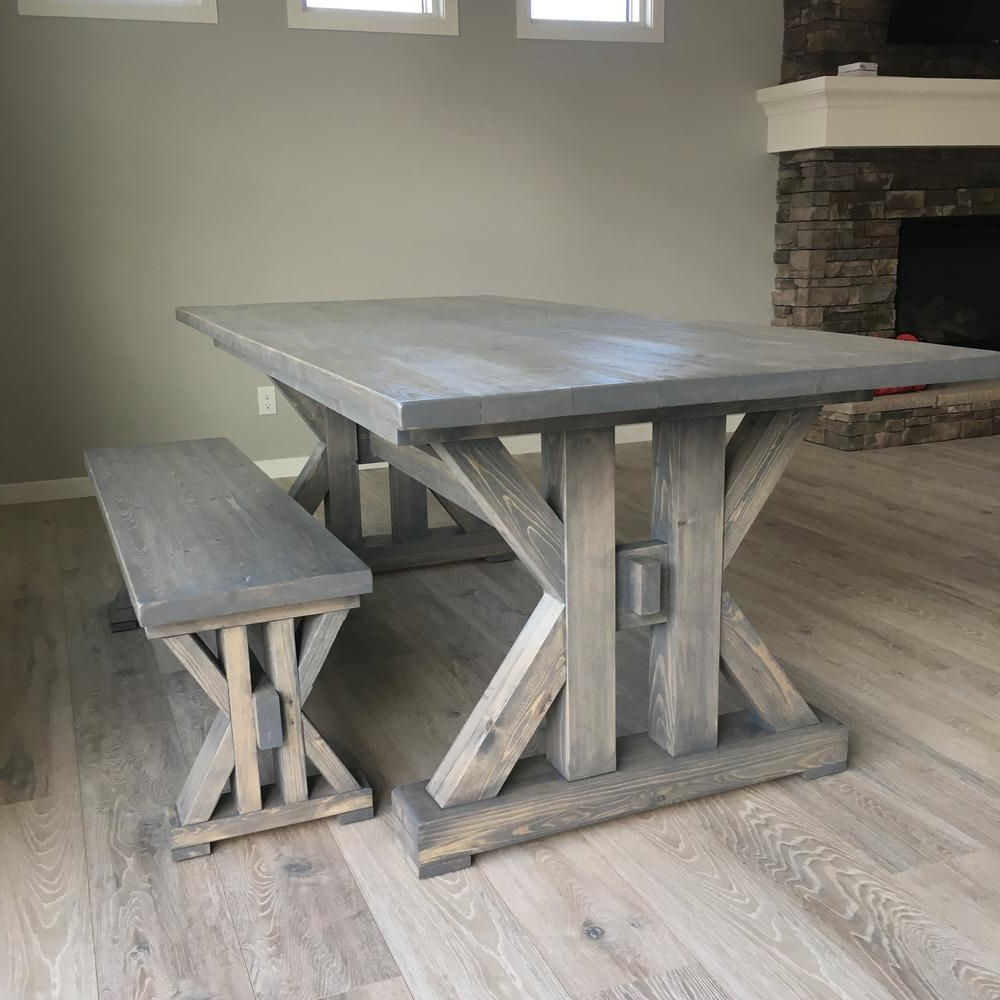 Small Rustic Look Dining Tables Throughout Most Current 14 Free Diy Woodworking Plans For A Farmhouse Table (View 28 of 30)