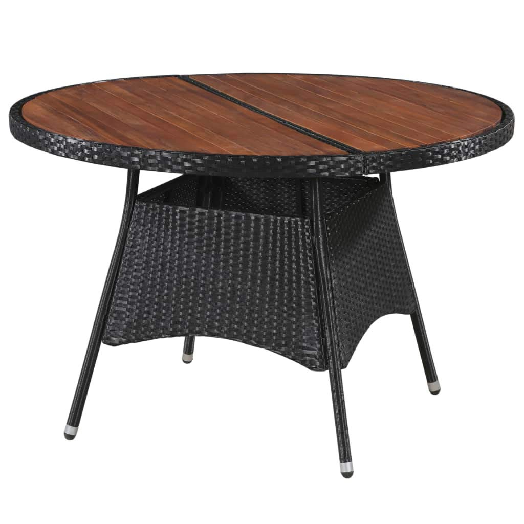 Solid Acacia Wood Dining Tables For Most Recently Released Amazon : Festnight Outdoor Round Dining Table Large (View 26 of 30)