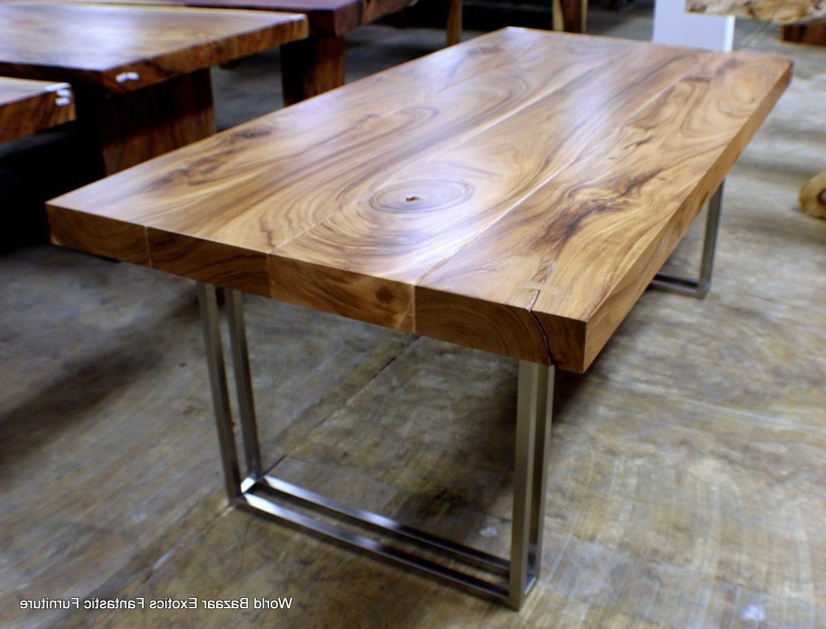 Solid Acacia Wood Dining Tables In Well Known Modern Desk Dining Table Exotic Solid Acacia Wood (View 23 of 30)