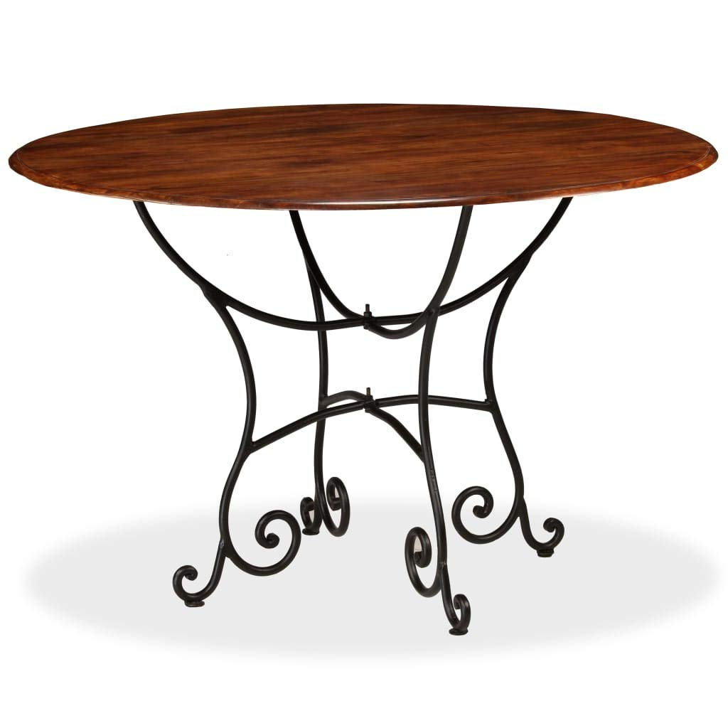 Solid Acacia Wood Dining Tables Inside Fashionable Amazon – Vidaxl Solid Acacia Wood Dining Table With (View 18 of 30)