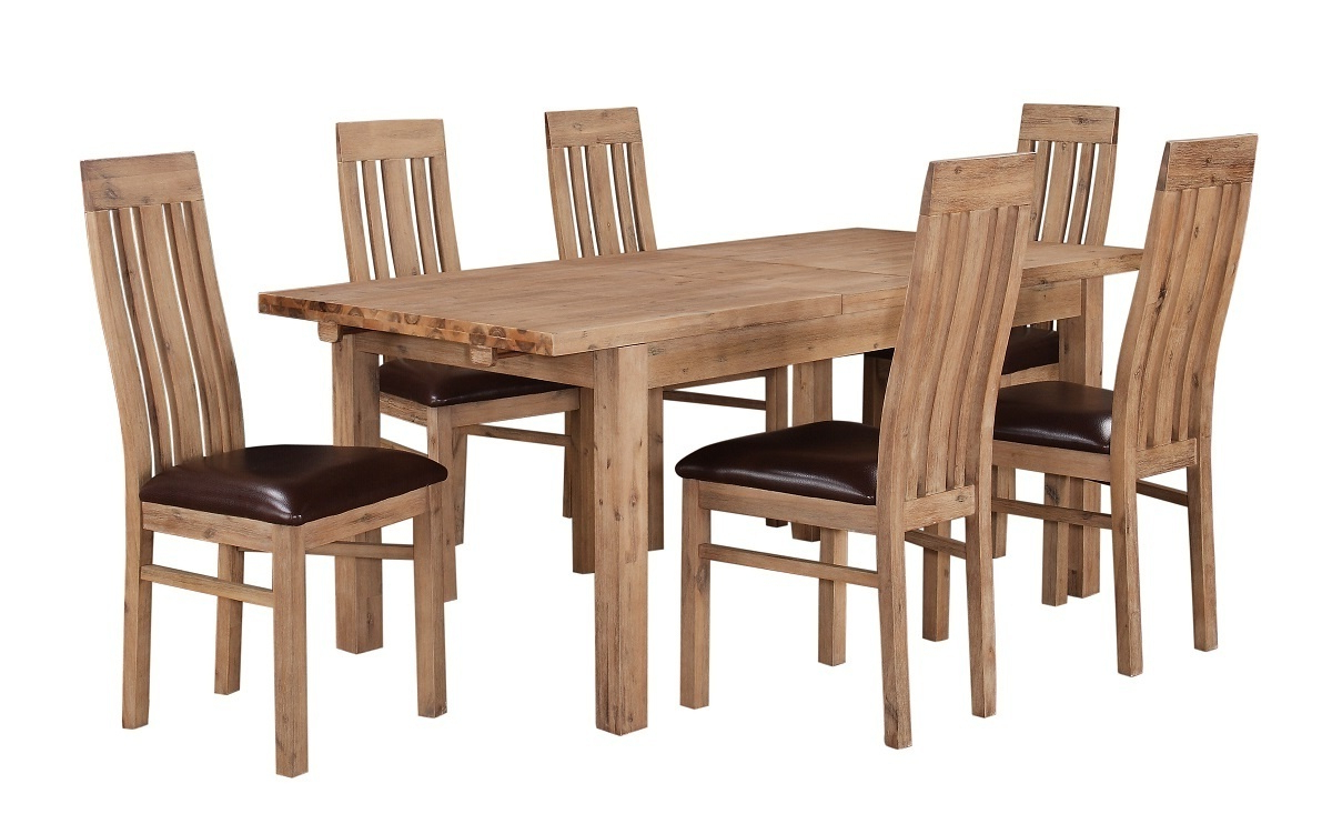 Solid Acacia Wood Dining Tables Intended For Famous Solid Wooden Acacia Dining Room Furniture Set (View 17 of 30)