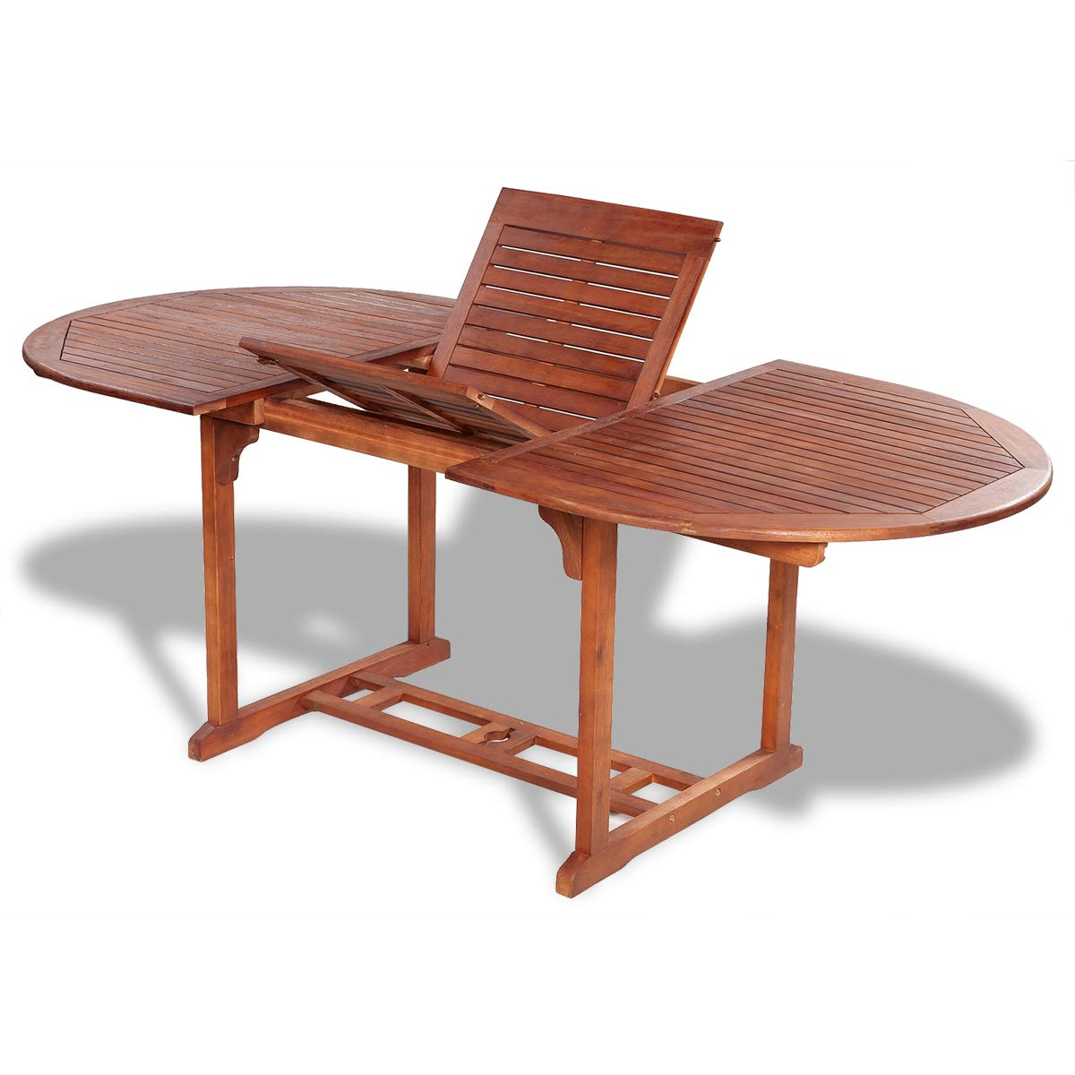 Solid Acacia Wood Dining Tables Throughout Most Up To Date Amazon: Vidaxl Solid Acacia Wood Outdoor Dining Table (View 10 of 30)
