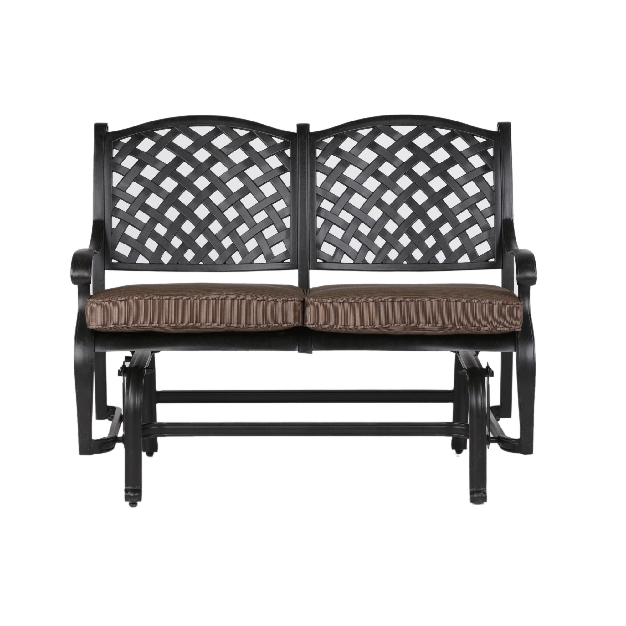South Ponto Aluminum Bench Glider With Cushion Pertaining To Best And Newest Aluminum Glider Benches With Cushion (View 7 of 30)