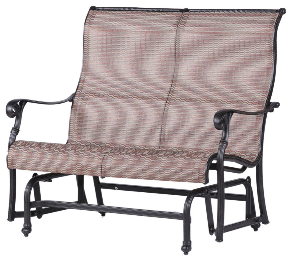Speckled Glider Benches Pertaining To Famous Stinson Sling Double Glider, Outdoor Metal Glider (View 24 of 30)