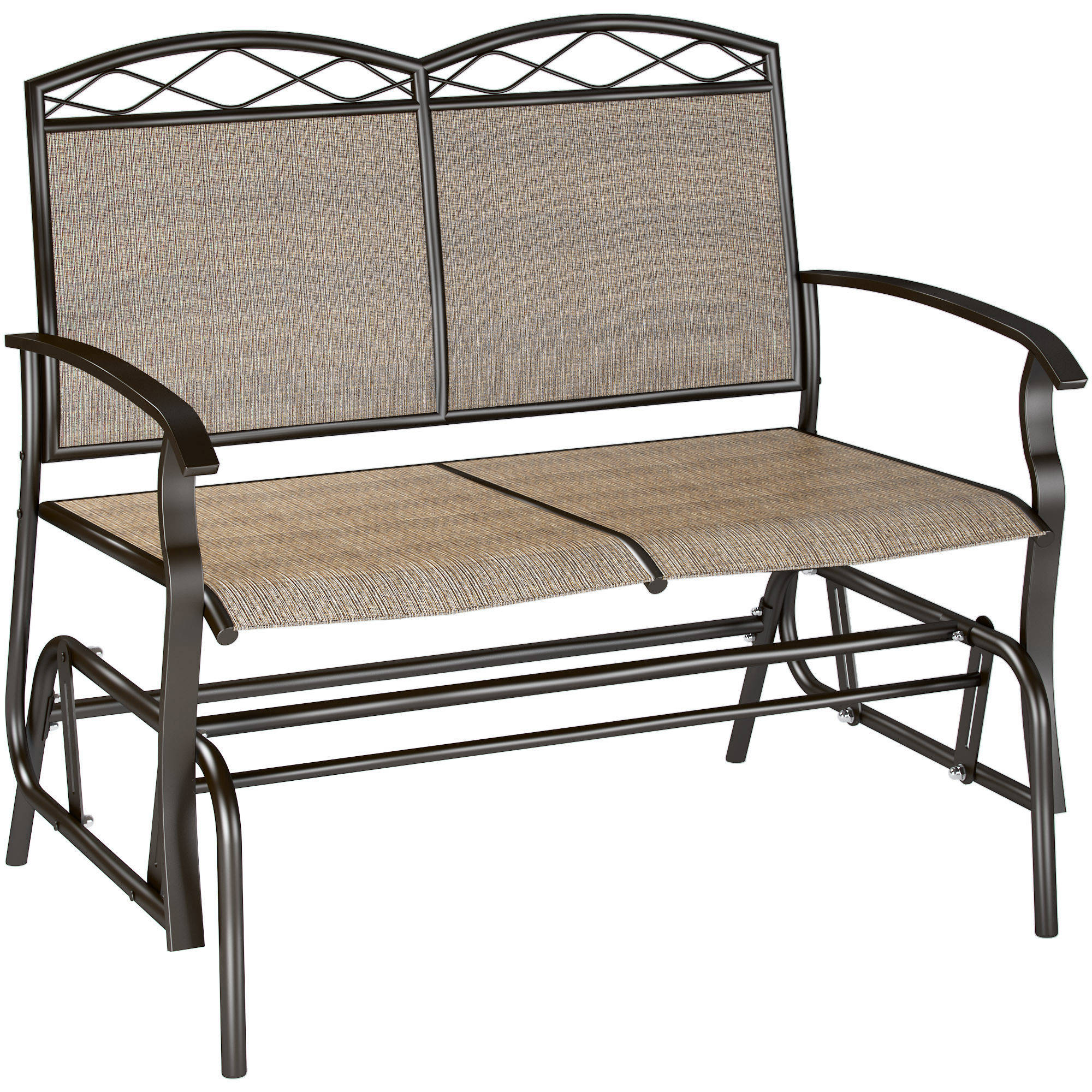 Speckled Glider Benches Pertaining To Well Liked Corliving Speckled Brown Patio Double Glider – Walmart (View 5 of 30)