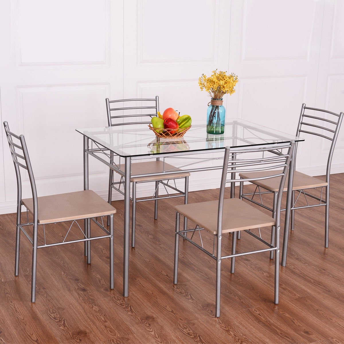 Steel And Glass Rectangle Dining Tables Throughout Most Popular Cheap Rectangle Glass Dining Table Set, Find Rectangle Glass (View 19 of 30)