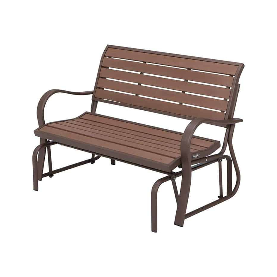 Steel Patio Swing Glider Benches With Regard To Well Liked The 10 Best Patio Gliders (2020) (View 14 of 30)