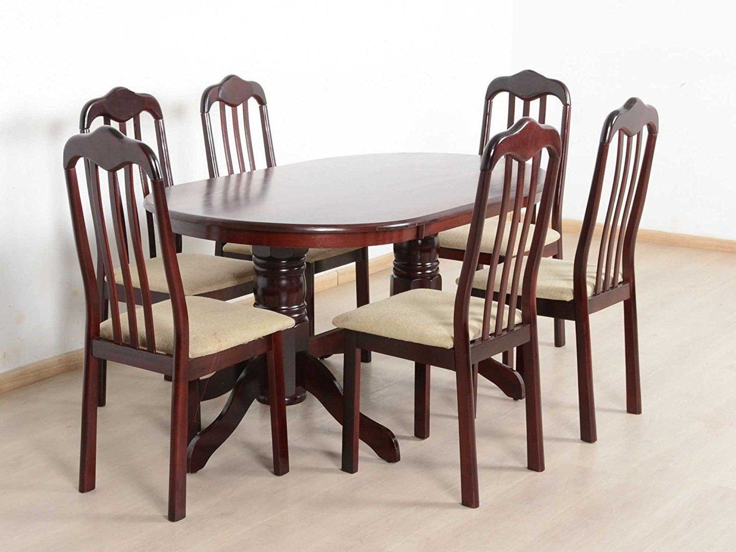 T2A Livez Six Seater Dining Table Set – Oval Shaped Regarding Widely Used Contemporary 4 Seating Oblong Dining Tables (Gallery 4 of 30)