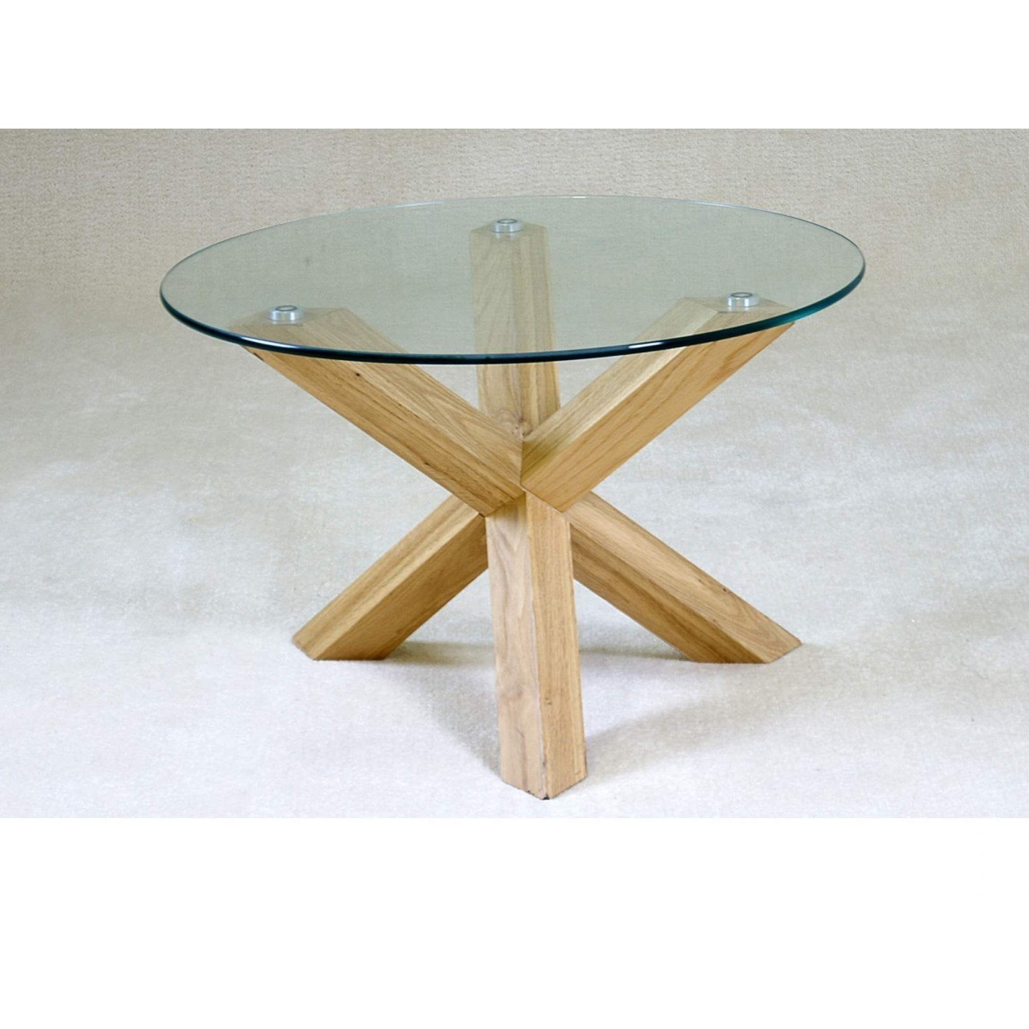 Table Round Glass Coffee With Wood Base Sunroom Top Table For Widely Used Eames Style Dining Tables With Chromed Leg And Tempered Glass Top (Gallery 18 of 30)