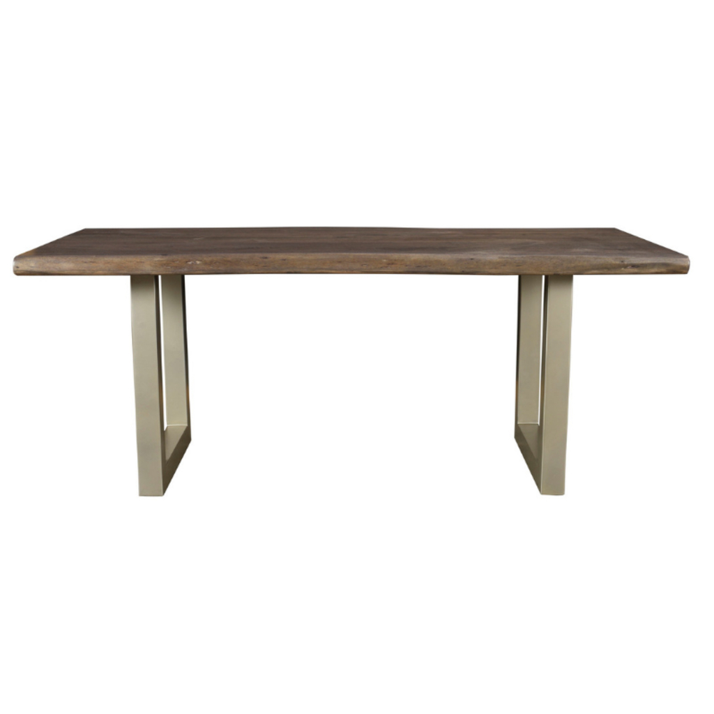 Taj Dining Table, Solid Acacia Wood And Metal (View 21 of 30)