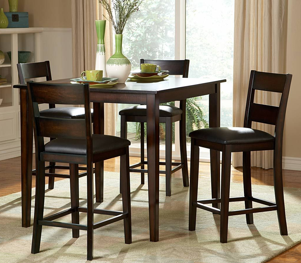 Tall With Bistro Transitional 4 Seating Square Dining Tables (View 2 of 30)