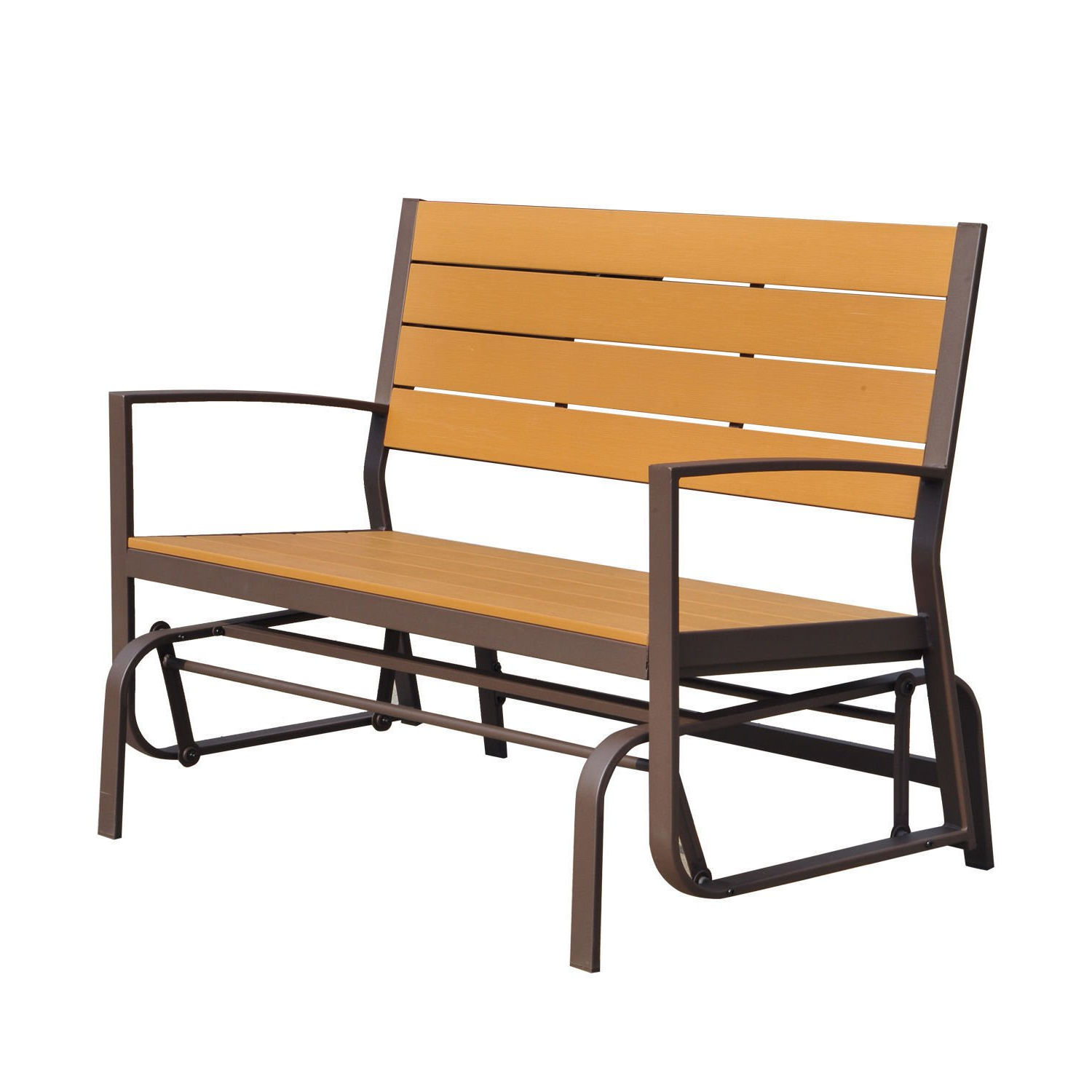 Teak Glider Benches Pertaining To Current Amazon : Globe House Products Ghp 700 Lbs Capacity Teak (Gallery 20 of 30)