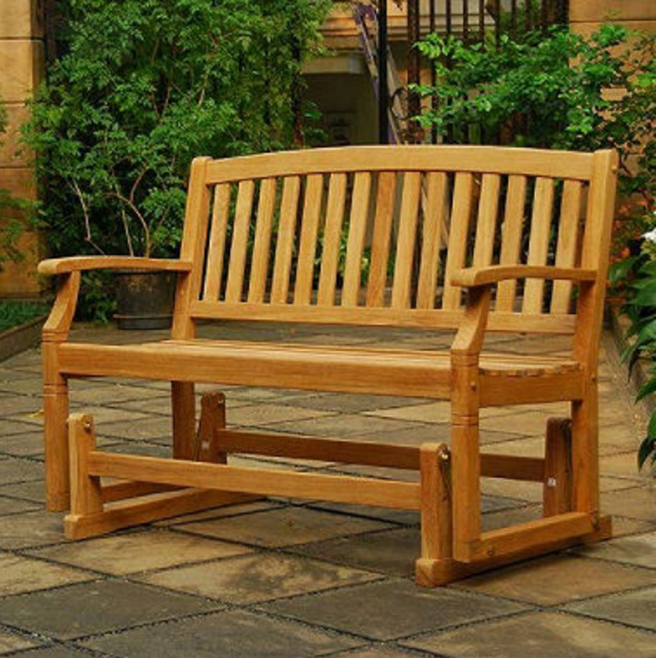 Teak Meditation Bench Wood Park Garden Glider For Patio Within Well Known Teak Glider Benches (Gallery 13 of 30)