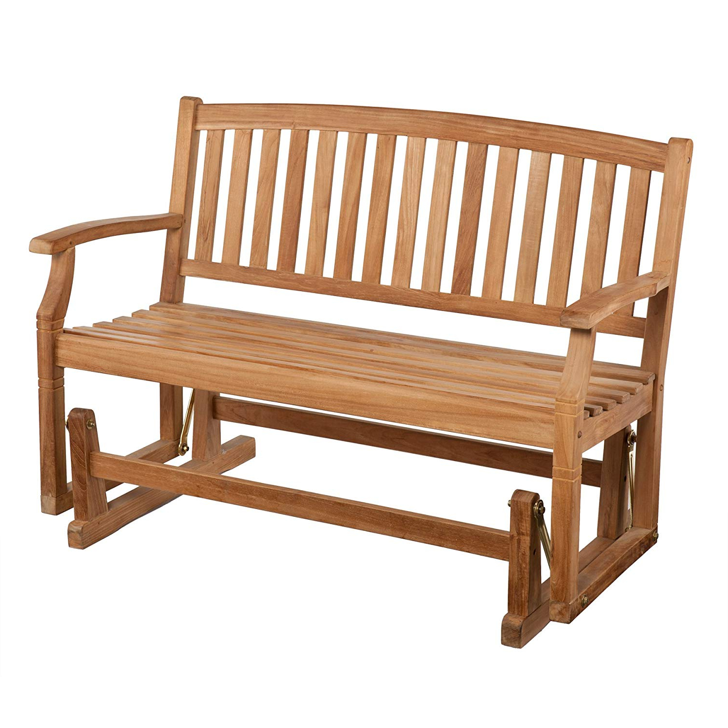 Teak Outdoor Glider Benches In Well Known Amazon : Sei Gideon Teak Patio Glider Bench : Tools (View 4 of 30)